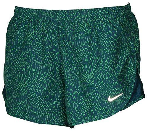 Nike Tempo Shorts Print (Nike Women's Dri-Fit Allover Print Tempo Running Shorts Green (XS))