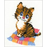 """Riolis HB068 Kreuzstich-Set """"Kätzchen"""", Baumwolle, Mehrfarbig, 15 x 18 x 0.1 cm"""