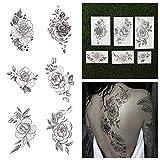 Tattify Blumen TemporŠre Tattoos- Eine Rose Mit Einem Anderen Namen (Set mit 12)