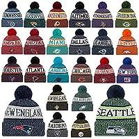 New Era Beanie Cap NFL Sideline 18/19 Mütze Seattle Seahawks Raiders Patriots UVM im Bundle mit UD Bandana