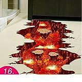 3d wandsticker,Wasserfeste aufkleber fliesen bad bodensticker badezimmer boden selbstklebende dekorative wand-aufkleber tapete-P 80x88cm(31x35inch)