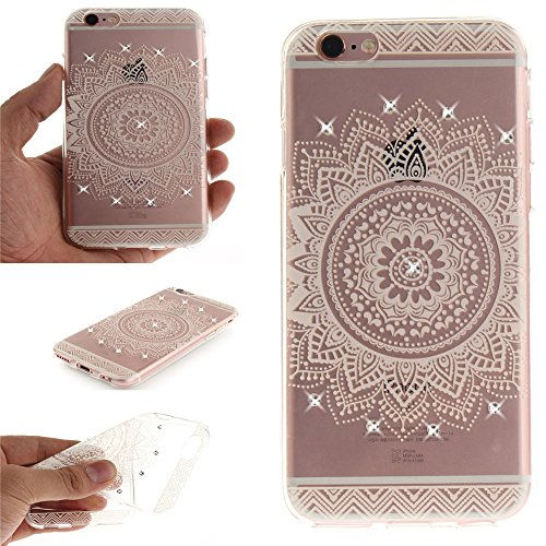 Nutbro iPhone 7 Case, iPhone 7 Soft Case, Luxury Diamond flower pattern electroplating Soft TPU Material Mobile Phone Back Cover TPU-TX-iPhone-7-65