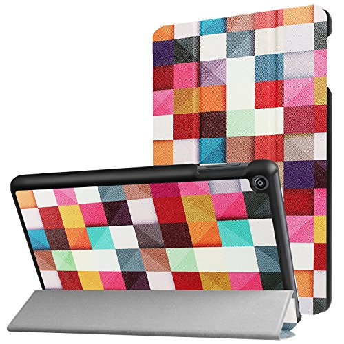 Hülle für Amazon Fire HD 8 (7. & 8. Generation - 2017 & 2018) 8 Zoll Tablet Schutzhülle Smart Cover mit Auto Sleep/Wake