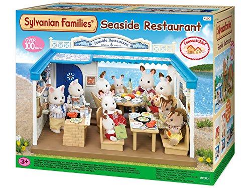 Sylvanian- Seaside Families Mobilier De Poupée-Restaurant De Bord De Mer, 4190, Multicolore