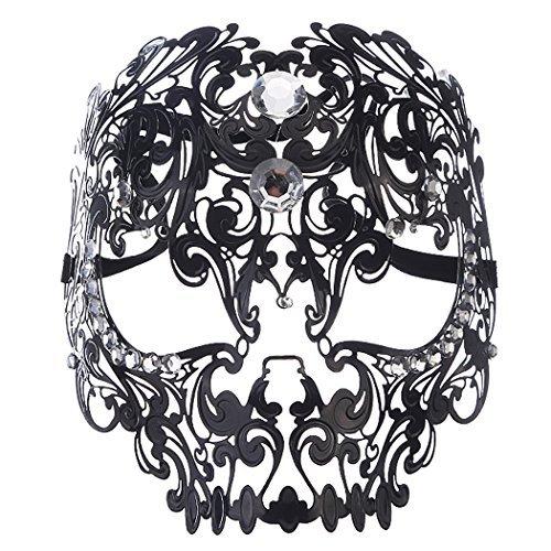 Venezianische Maske, Coofit Masquerade Maske Metall Maskenball Masken Venedig Maske Maskerade Maske Damen Herren