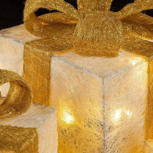 Pacchi Natale Luminosi.Pacco Regalo Luminoso Set 3 Pacchi Regalo Luci Confezione