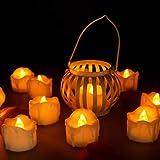 innislink Lot de 12 Bougies LED sans Flamme avec Fonction minuteur pour Bougies Chauffe-Plat Éclairage électrique Décoration