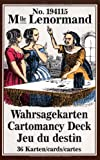 Mlle. Lenormand Wahrsagekarten - Marie-Anne A. Lenormand