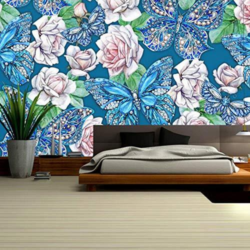 ling Wand Kunst Handgemalte Blume Wand-Dekor Wohnzimmer Malen Ideen Schlafzimmer Wandbilder Wallpaper Für Kinderzimmer-250 × 160 cm ()