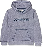 Converse Boy's Pullover Hoodie, Multicoloured (Navy/White Marl), 6-7 Years