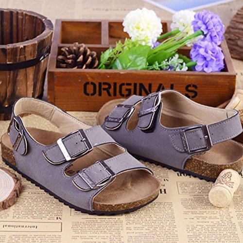 Une Série de Couleurs Chaussures - Sandales Enfants Unisexes - Tongs Mules Gris