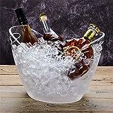 FTC Ice Bucket Transparenter Barren-EIS-Eimer Champagne-Wein-Fass-EIS-Korn-Fass-Wein-Fass-Plastikbier-Fass, großes transparentes