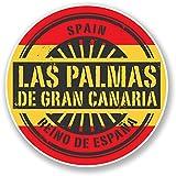 2x 10cm las palmas Gran Canaria vinilo adhesivo Travel Equipaje colgante España # 6733