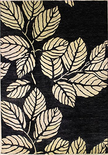 RugsTC 244 x 297 Chobi Ziegler Area Rug Made Using Vegetable Dyes with Wool Pile Hand-Knotted in Black,White Colors | a 244 x 305 Rectangular Double Knot Rug -