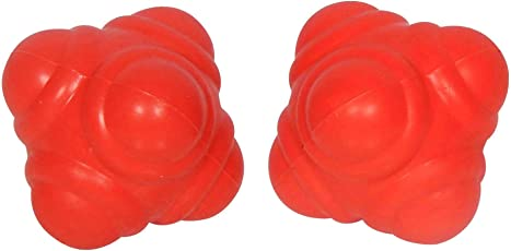 GSI Improving Agility/Reflexes/Hand-Eye Coordination Reaction Balls (Red) - Pack of 2