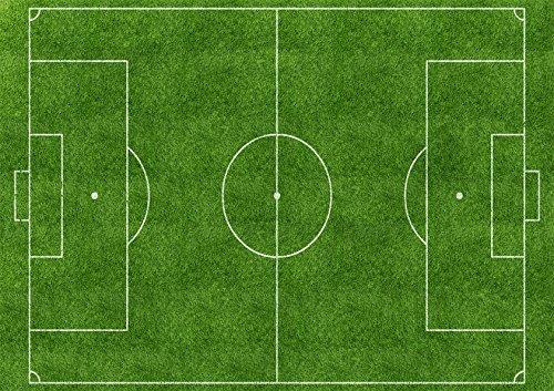 Partycolare Cialda per Torta Campo Calcio Prato Verde - da Personalizzare - Campo
