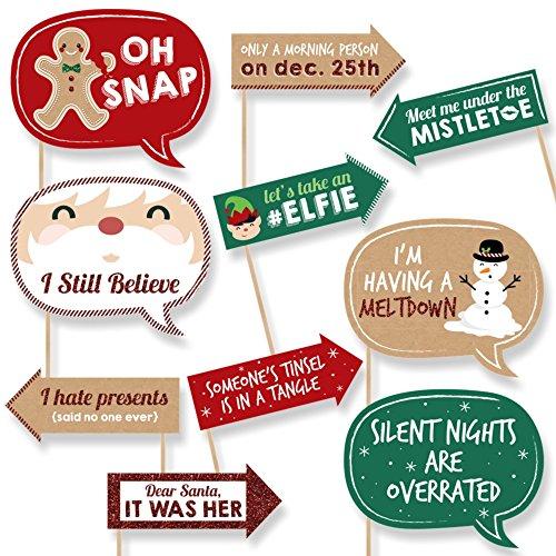 Navidad divertida: accesorios para la fotomatón de vacaciones y Navidad. 10 piezas