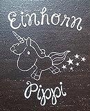 Aufkleber Einhorn Pippi 11cm (4 Weiß)