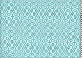 Swafing Beschichtete Baumwolle/Leona/Hexagon, türkis/Tischdecke/Meterware/Indoor/Outdoor