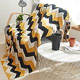 Douh manta de punto 100% algodón Cable funda ligera manta para sofá/cama uso en interiores/al aire libre acogedor mantas