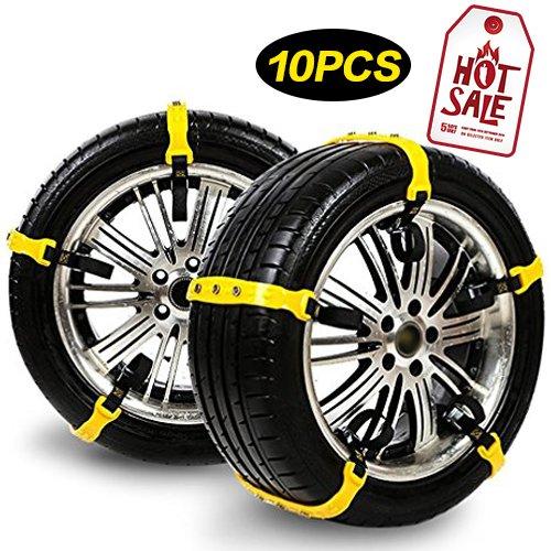 Schneeketten 10er Set Snow Tire Chains Anfahrhilfe Anti Skid Nail Auto Snow Tire Ketten