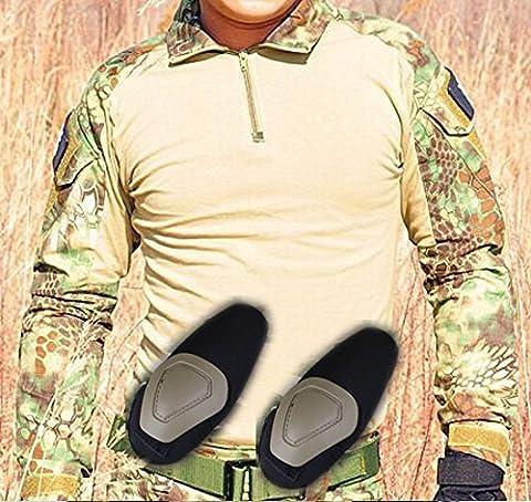 Hommes BDU Tournage Combat Manche Longue Camo Chemise Avec Coude Coussinet Mandragore Kryptek pour Tactique Militaire Armée Airsoft Paintball (L)