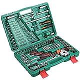 mymotto 121-tlg Steckschlüssel Set Auto Reparatur Multifunktions Tool Werkzeugkoffer