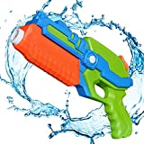 TeaQ Pistolet a Eau Longue Distance 8-10m Design Portable pour Enfants et Adultes Jeux de Tir Couleur Aléatoire