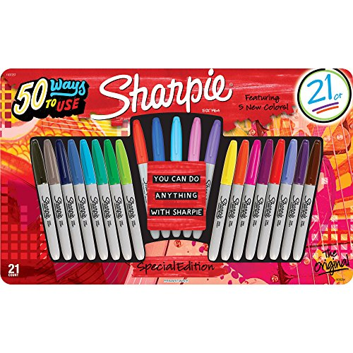 sharpie-special-edition-fine-point-marcador-permanente-varios-colores-21-ct-del-paquete