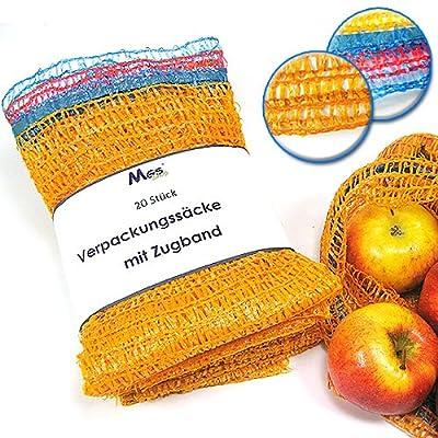 Verpackungssäcke 5kg 32 x 47cm Raschelsäcke Kartoffelsäcke mit Zugband & Borte von MGS SHOP auf Du und dein Garten