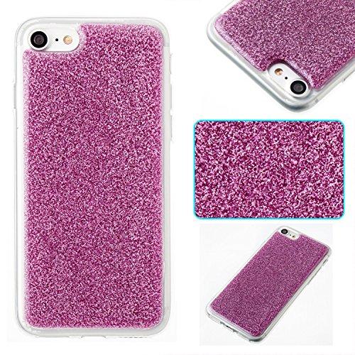 iPhone 6 Plus Hülle, iPhone 6S Plus Hülle, Valenth Bling Sparkly Powder Soft TPU Silikon Stoßstange für iPhone 6 Plus / 6s Plus Purple 7G