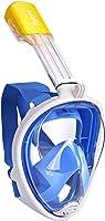 Flyboo Maschera da Snorkeling,Maschera Subacqueacon con Visuale Panoramica 180° Design Pieno Facciale e Compatibile con...