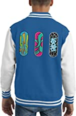 Cloud City 7 Three Skateboards Kid's Varsity Jacket