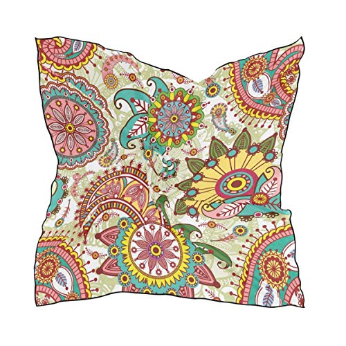 Aeykis Paisley And Flowers Quadratischer Schal Head Wrap Hair Scarves -