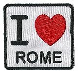 Patche écusson thermocollant I love Rome...