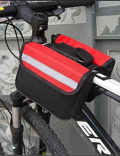 ZQ Fahrradrahmentasche Radsport Für Alles Handy ( Wasserdicht / Wasserdichter Verschluß / tragbar / Multifunktions , Rot / Schwarz / Blau , Red