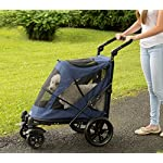 Pet Gear No-Zip Excursion Zipperless Entry Pet Stroller for Single or Multiple Pets, Candy Red 12
