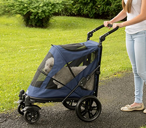 Pet Gear No-Zip Excursion Zipperless Entry Pet Stroller for Single or Multiple Pets, Candy Red 5