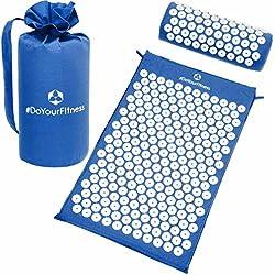 #DoYourFitness Akupressur-Set »Jimuta« / Tasche + Matte + Kissen/Akupressur- und Massagematte zur effektiven Lockerung und Lösung von Verspannungen/blau