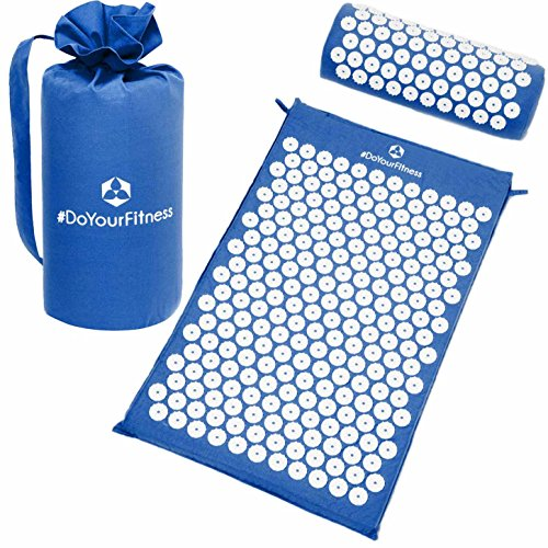 Akupressur-Set »Jimuta« / Tasche + Matte + Kissen / Akupressur- und Massagematte zur effektiven Lockerung und Lösung von Verspannungen / blau (Slam Medizin Ball)