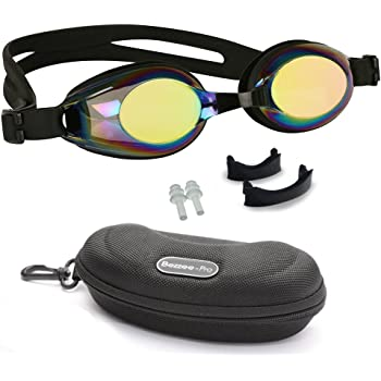 ff6246ae372 Kids Swimming Goggles with 3 Adjustable Nose Bridge   100% UV Protected  Anti-Fog
