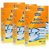 Swirl Brillen-Putztücher 50 einzeln verpackte Tücher in Spenderbox - Anti-Beschlag-Effekt - Extra weich und schonend - Fettlösend - Streifenfrei (6er Pack)