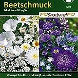 N.L.Chrestensen 52010, Beetschmuck, Maritimer Blütenflor, Blau/Weiß, Blau