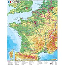 Frankreich physisch - Wandkarte / Poster