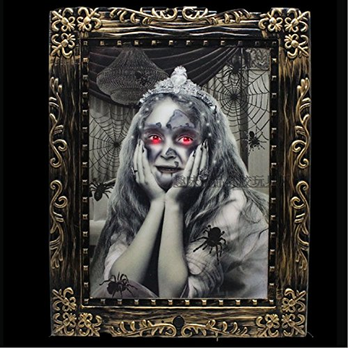 Halloween Props Bar Dekorative Halloween Stimme Leuchtende Sound Terror Tone Change Girl Magic Photo Frame