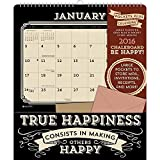 2016 Chalkboard Be Happy Pockets Plus Wall Calendar