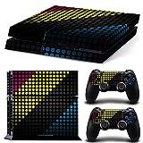 qkonsole PS4Skin Multicolor puntos Diseño Sticker Playstation 4vinilo protector de pantalla–mate