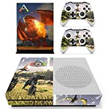 XBox One Slim + 2 Controller Aufkleber Schutzfolien Set - ARK: Survival Evolved (1) /One S