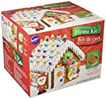 WILTON-Gingerbread Petite House Kit. Pre-baked and pre-assembled for maximum efficiency and fun! This package contains one assembled gingerbread house (4-1/2x5-1/4x5-1/4 inches) two colorful types of candies Santa icing decoration white ready-to-use ...