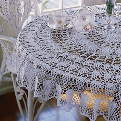 Carnation Splendor Tablecloth Thread Crochet ePattern